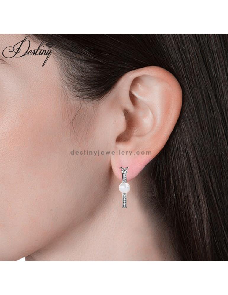 Pearl Hoop Earrings (3 Colours)