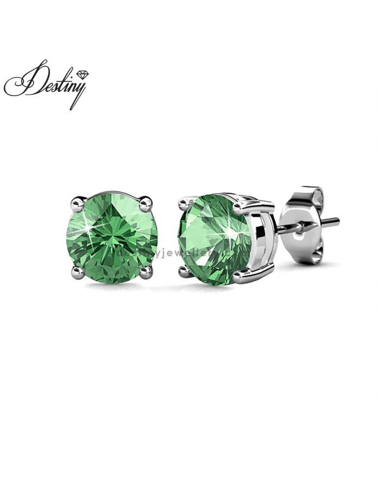 Solitaire Stud Earrings (White Gold)