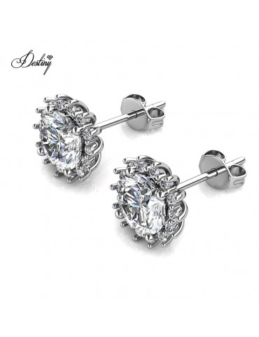 Moissanite Diamond Florale Earrings