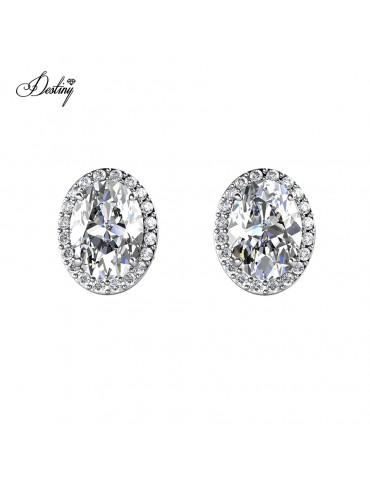 Moissanite Diamond La Reine Earrings