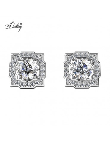 Moissanite Diamond Carree Earrings
