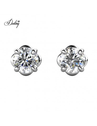 Moissanite Diamond La Rose Earrings