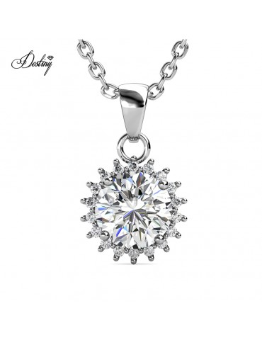 Moissanite Diamond Florale Pendant