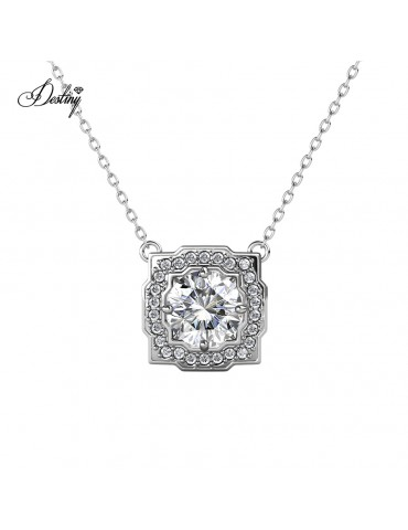Moissanite Diamond Carree Pendant