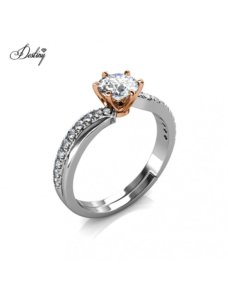 Moissanite Diamond Les Solitaire Ring
