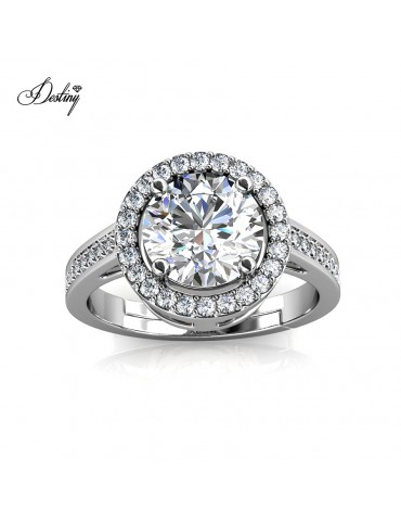 Moissanite Diamond Fantaisie Ring