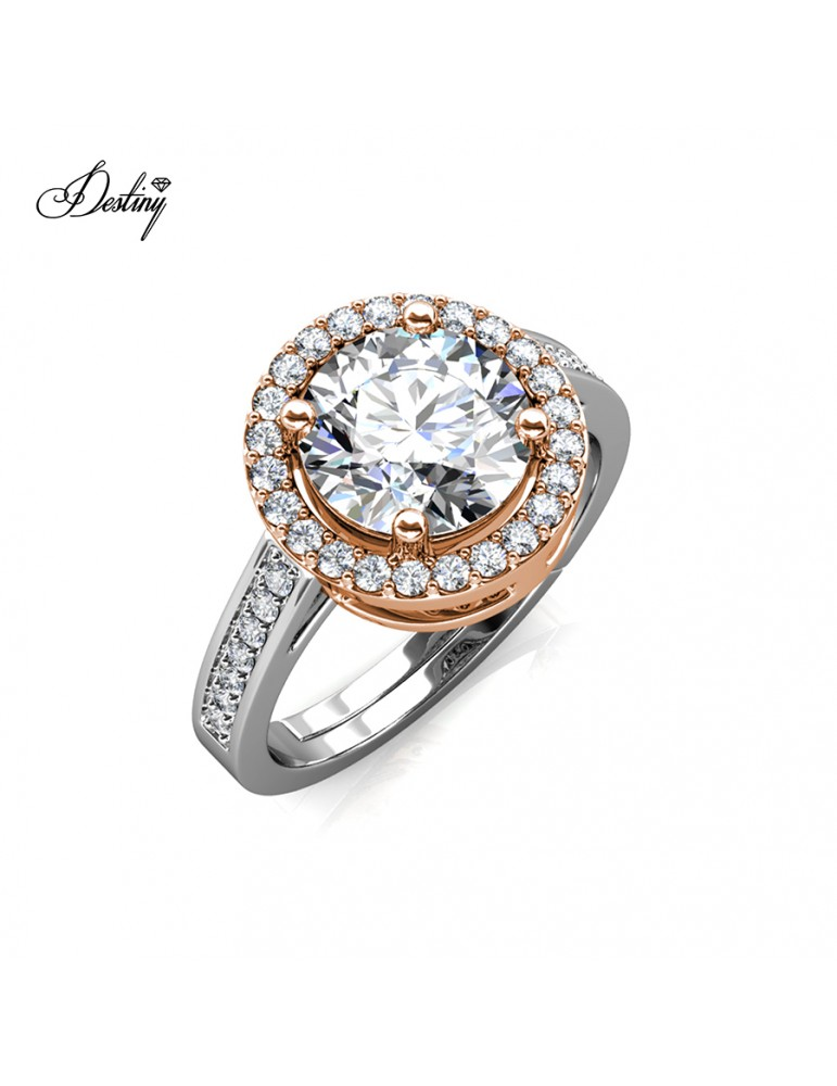 Moissanite Diamond Fantaisie Ring