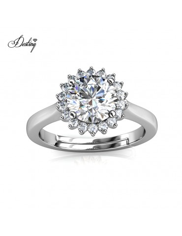 Moissanite Diamond Florale Ring