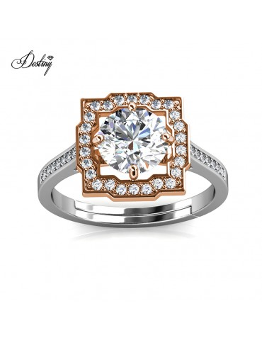 Moissanite Diamond Carree Ring
