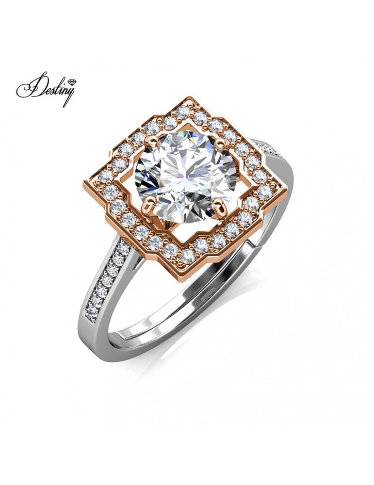Moissanite Diamond Carree Ring