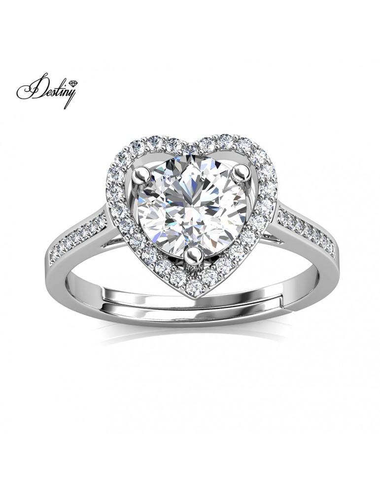 Moissanite Diamond Mon Amour Ring