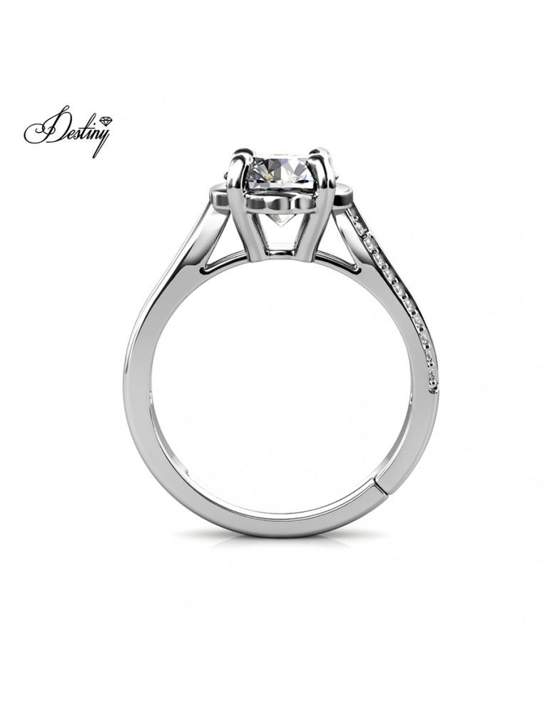 Moissanite Diamond La Rose Ring