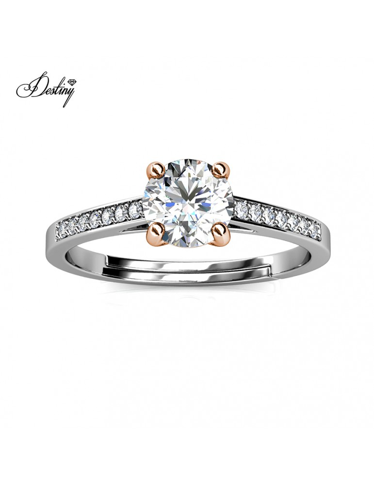 Moissanite Diamond Princesse Ring