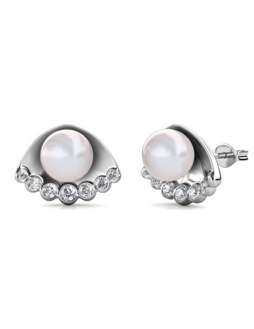 Seashell Pearl Earrings