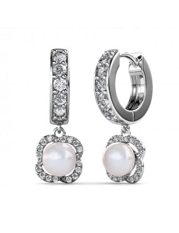Clover Pearl Earrings