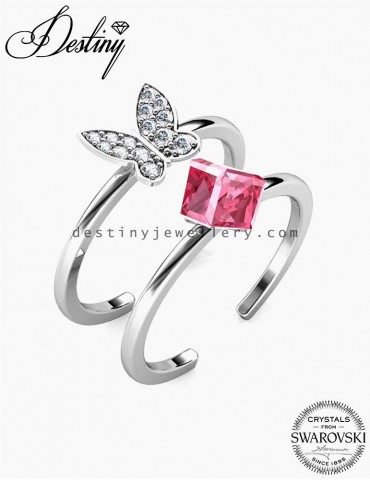 Butterfly Cube Ring