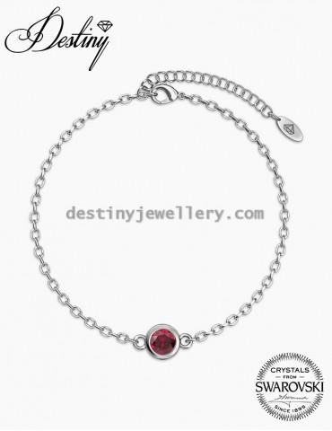 Birth Stone Bracelet - White Gold