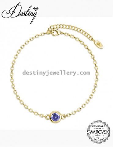 Birth Stone Bracelet - Yellow Gold