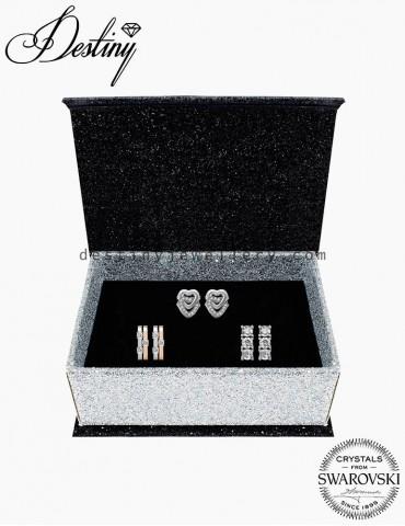 Bonding Heart Earrings Set